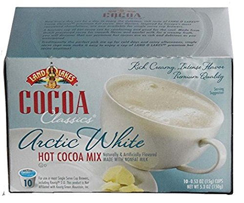 White Hot Cocoa Mix K-Cups,10 Count - 5.3 oz (Pack of 2) (Hot Dog Chocolates)