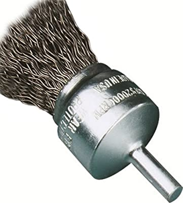 United Abrasives/SAIT 02702 3/4-Inch by .014 Crimp Wire End Carbon Steel Brush, 12-Pack