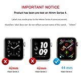 ZYTX Compatible with Apple Watch Band with Case Series 4 40mm/44mm, Silicone Band with 360° Shock-Proof Protective Case Replacement for Apple Watch Series 4 Midnight Blue/Vintage Rose