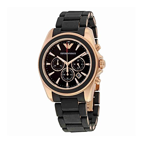 Emporio Armani Men's AR6066 Sport Black Silicone Watch ()