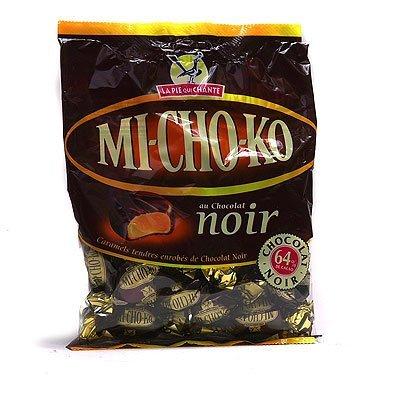 French Pie Chocolate - La Pie qui Chante MICHOKO Dark Chocolate Wrapped Caramels Toffee Candy - 3.5 oz