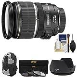 Canon EF-S 17-55mm f/2.8 IS USM Zoom Lens with Backpack + 3 UV/CPL/ND8 Filters + Hood + Kit for EOS 70D, Rebel T3, T3i, T4i, T5, T5i, SL1 DSLR Cameras