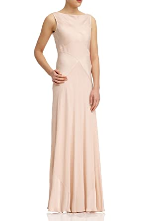 6e949ee022ba0 Ghost Hollywood Taylor Maxi Long Evening Dress Boudoir Pink Medium UK 12  Bridesmaid RRP £225: Amazon.co.uk: Clothing