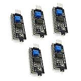 arduino lcd module - 5 Pcs 1602LCD Display IIC/I2C/TWI/SP I Serial Interface Board Module Port For Arduino