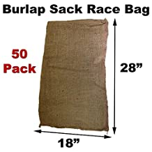 "Burlap Bags for Sack Races- Child Size - 18"" x 28"" (50 Pack)"