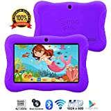 """Contixo Kids Tablet K3   7"""" Display Android 6.0 Bluetooth WiFi Camera Parental Control for Children Infant Toddlers Includes Tablet Case (Purple)"""