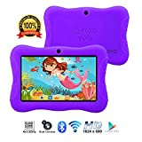 Contixo Kids Tablet K3 | 7' Display Android 6.0 Bluetooth WiFi Camera Parental Control for Children Infant Toddlers Includes Tablet Case (Purple)