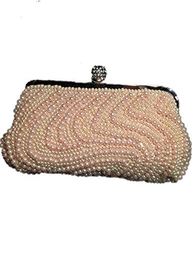Handmade Color Several Dinner of Styles 10 Purse Handbag Ladies Wedding CL Bride Clutch Beads Pearl Glitter vtxFdqx6nw