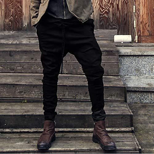 Spbamboo Mens Sweatpants Pockets Fashion Joggers Casual Drawstring Work Trousers by Spbamboo (Image #1)
