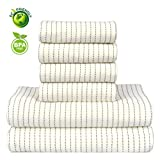 SEMARO Towel Set Hotel & Spa 6 pack Bath Towel Super Soft and Highly Absorbent 100% Cotton (Beige)