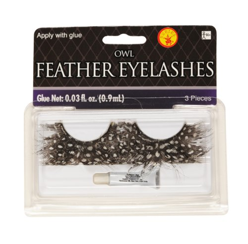 Rubie's Owl Feather Eyelash, Brown, One Size]()