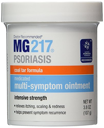 MG217 Medicated Tar Ointment, Psoriasis Treatment, Intensive Strength, 3.8 oz. (Pack of 2)