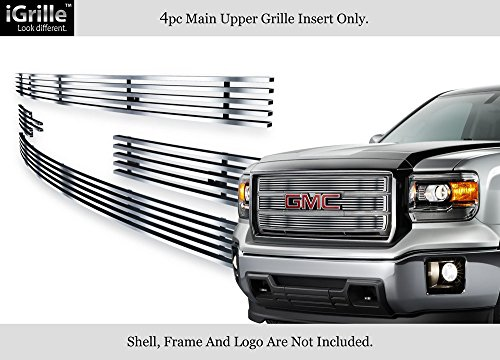 APS Compatible with 2014-2015 GMC Sierra 1500 Reg Model Stainless Chrome Billet Grille Insert G65972C
