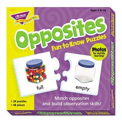 Fun to Know Puzzles, Opposites, Sold as 1 Each by Trend Enterprises Inc by Trend Enterprises Inc