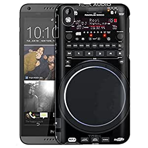 HTC Desire 816 Case, Slim Fit Snap On Cover by Trek Retro Turntable Music Jukebox Case