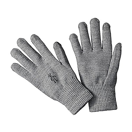 smartwool Liner Glove Silver Gray Heather S & E-Tip Glove Bundle (Smartwool Glove Liner)