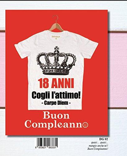 Marpimar Biglietto Auguri Compleanno 18 ANNI GIGANTE 36x43.5 cm