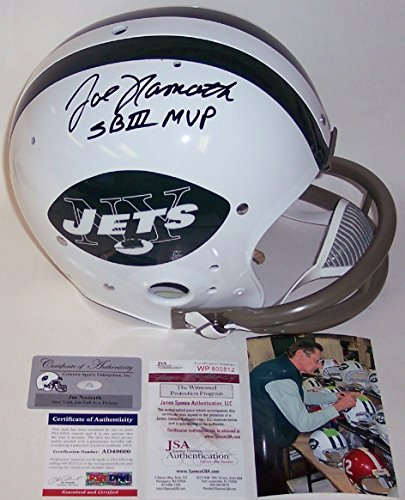 Joe Namath Autographed Hand Signed New York Jets 2-Bar Throwback Full Size Helmet - PSA/DNA