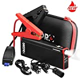 GREPRO 1000A Peak 18000mAh Lithium Car Jump Starter for 12V Vehicles