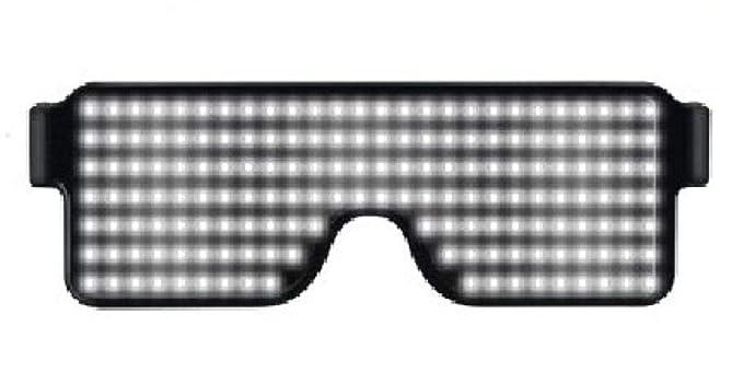 lxwrnv Gafas brillantes gafas iluminantes vítores gafas de ...
