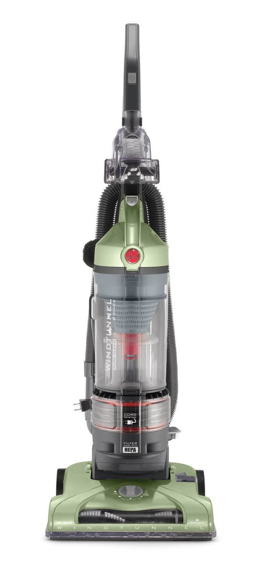 Hoover T-Series WindTunnel Rewind Plus Bagless Corded Upright Vacuum UH70120, Green by Hoover
