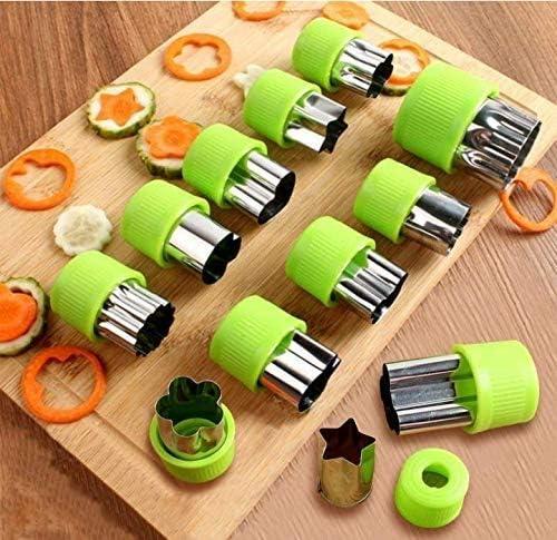 HONEY WYJ Set di Strumenti for taglierini for Sandwich Morbidi for Dolci in Acciaio Inossidabile con Stampo a Forma di Coltello for Biscotti Spiralizer Vegetable Slicer