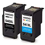 HWDID Remanufactured Ink Cartridges Replacement for PG-540XL CL-541XL(1 Black,1 Tri-Colour) for PIXMA MG2100 MG2150 MG2250 MG3100 MG3150 MG3200 MG3250 Inkjet Printers