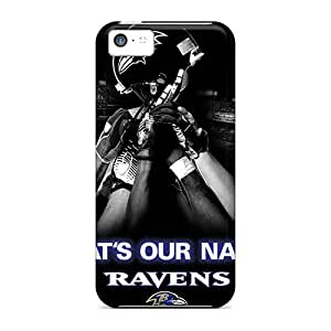 High Quality Hard Phone Covers For Iphone 5c (jkY16042LJvq) Allow Personal Design HD Baltimore Ravens Pattern
