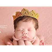 Newborn Crown, Baby Boy Girl Photo Prop, Gender Neutral Infant Photography Prop, Gold