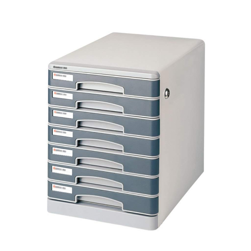 Bxwjg 7-Layers Desktop File Cabinet Lockable Data Office Storage Drawer Confidentiality Office Desktop Drawer Organizer 13.9in11in14.3in by Bxwjg