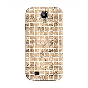 Cover It Up - Brown White Break Mosaic Galaxy S4 Hard Case
