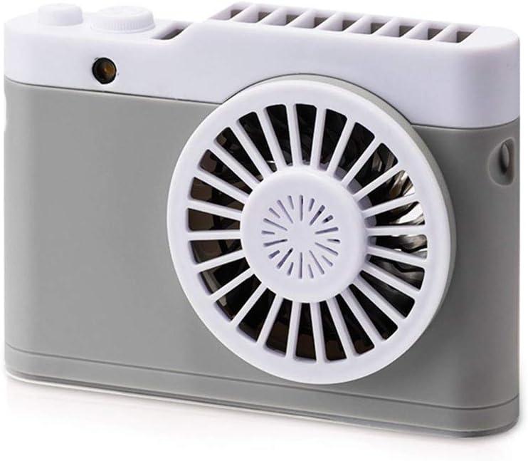 Color : Pink YongFeng New Camera Lanyard Mini Fan Creative Home Portable USB Rechargeable Desktop Fan