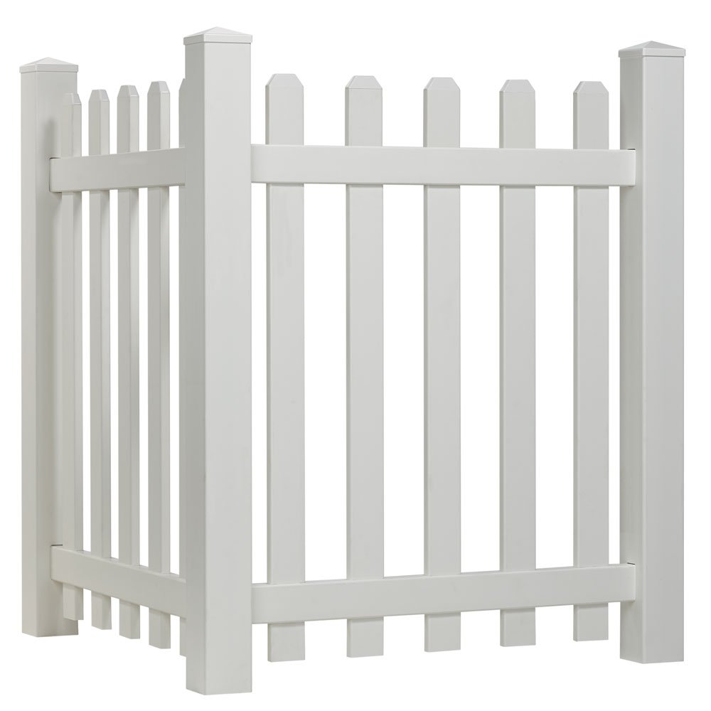 Outdoor Essentials Picket Accent Fence with Dog Ear Shaped Cap by Outdoor Essentials