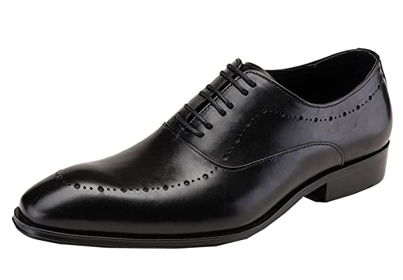 Dilize Herren 's Classic Leder Derby Schuhe Lace up Oxford in Schwarz 1iZHrs