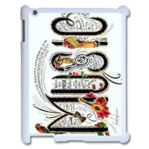 New Design Case for iPad 2,iPad 3,iPad 4 w/ Musical Words image at Hmh-xase (style 3)