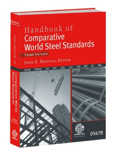 Handbook Of Comparative World Steel Standards (Astm Data Series Publication, Ds 67b.) ASTM International