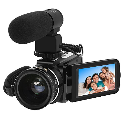 Video Camera, LAKASARA Full HD 1080P 30FPS WIFI Camera Camcorder DVR with External Microphone and Wide Angle Lens by LAKASARA