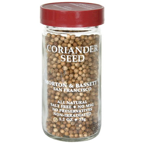Morton & Bassett Coriandor Seeds, 1.2-Ounce Jars (Pack of 3)
