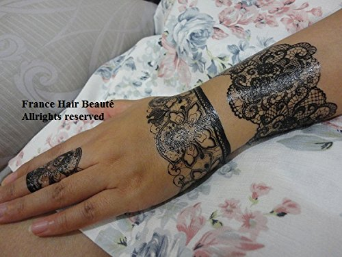 tatouage bracelet dentelle femme. Black Bedroom Furniture Sets. Home Design Ideas