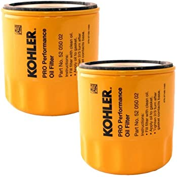 8dbc4fa245a Kohler (2 Pack) 52 050 02-S1 Engine Oil Filter Extra Capacity For M18 -  M20
