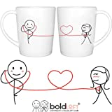 Use these groovy His and Hers couple coffee mugs can be your daily medicine when you have to be away from each other. My love for you is special and true, and the rhythm of my heart beats just for you!  BOLDLOFT® offers a wide variety and sel...