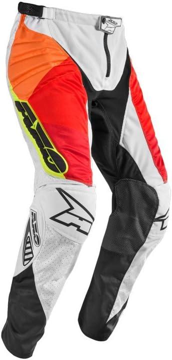 WHITE//RED//YELLOW 28 AXO MX PRISMA PANT