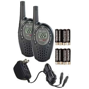Cobra Walkie-Talkie microTalk CXT90 18-Mile 22-Channel Two-Way Radio (Black, Pair)