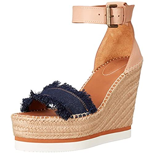 749746b38 See By Chloe Women s Glyn Espadrille Wedge Sandal on sale ...