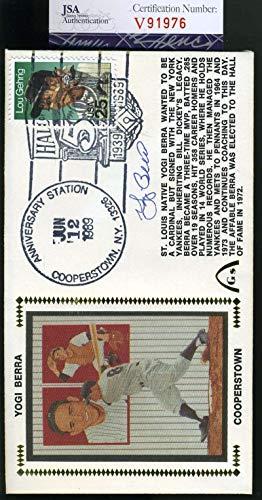 YOGI BERRA JSA Coa Autographed 1989 HOF FDC Hand Signed Authentic