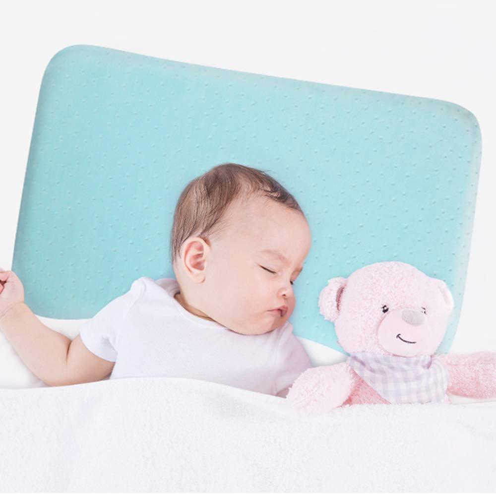 Neugeborene Kopfformkissen TFACR Baby Kissen 40 x 25 cm atmungsaktive Memory Foam Kissen Pr/ävention Baby Kissen f/ür Plagiozephalie Baby Kissen Anti-Flat Head-Syndrom
