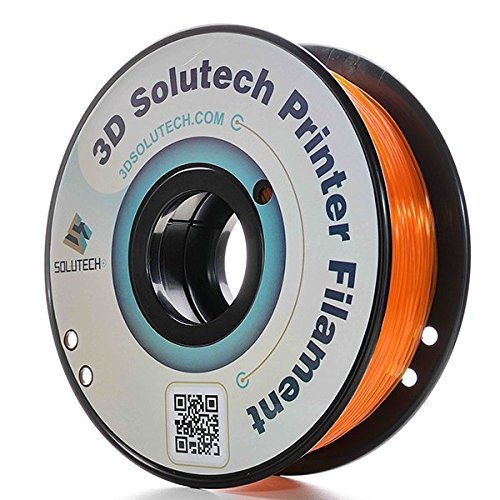 3D Solutech See Through Orange 3D Printer PLA Filament 1.75MM Filament, Dimensional Accuracy +/- 0.03 mm, 2.2 LBS (1.0KG)
