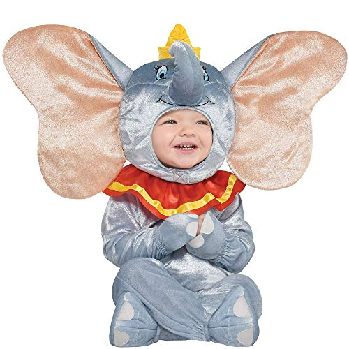 Party City Dumbo Halloween Costume for Babies, 12-24 Months, Includes Accessories