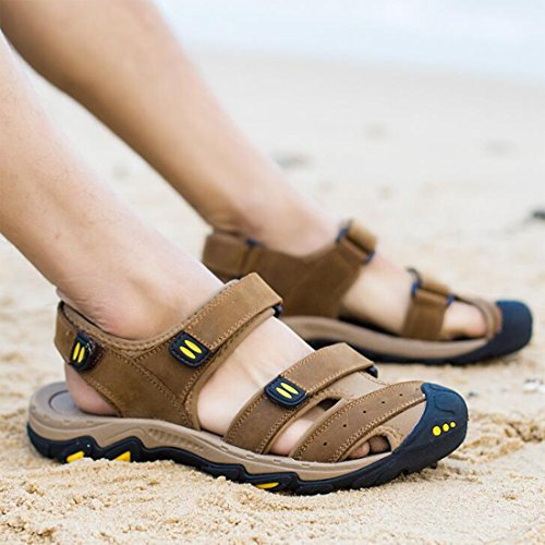 Sandali ZHONGST Casual Baotou Shoes Outdoor Uomo Sandali Estivi da Lightbrown Beach 6qFz16Uw