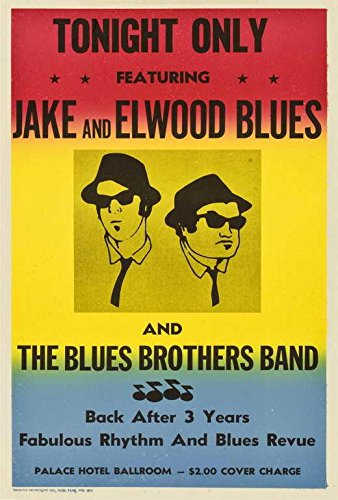 The Blues Brothers Movie POSTER 27 x 40, John Belushi Dan Ay